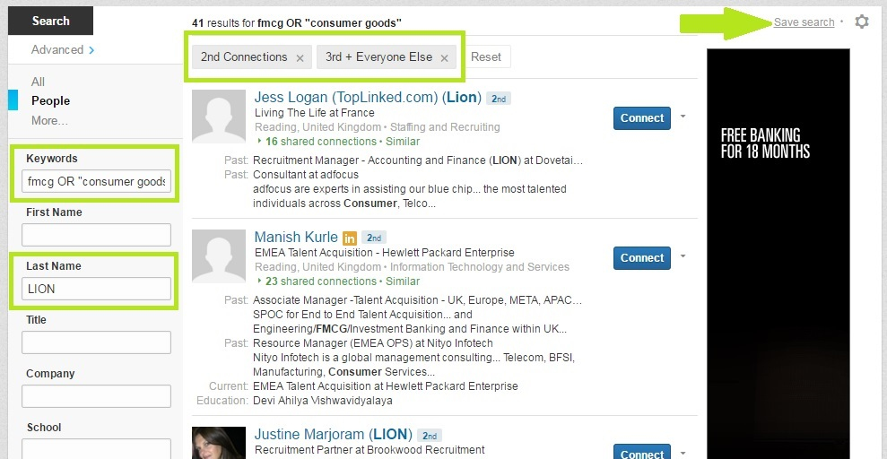 LinkedIn saved search - LIONs